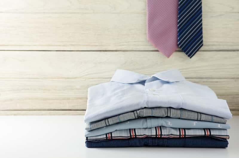 Wyprane koszule i krawaty