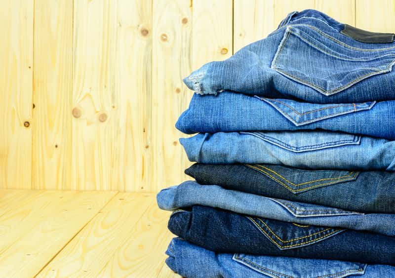 Spodnie jeansowe po praniu