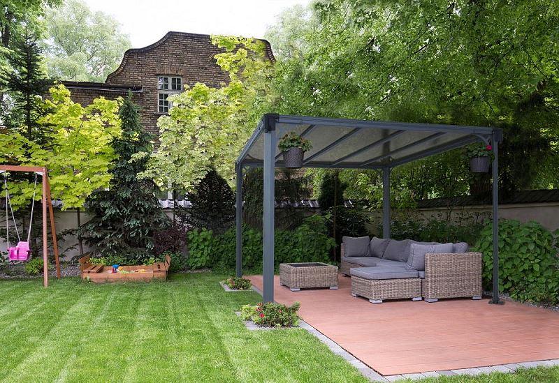 Nowoczesny pawilon ogrodowy Milano Palram