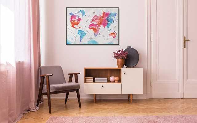 Mapa świata - plakat na ścianę, który warto zawiesić