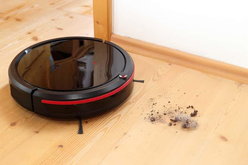 Roomba podczas odkurzania