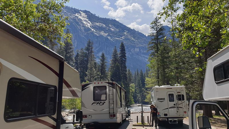 RV Dump station in Yosemite Valley - Upper Pines