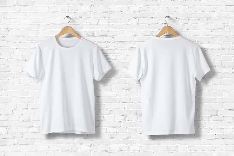 Śnieżnobiałe koszule po wybieleniu