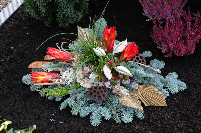 Stroik na cmentarzu, czyli stroiki bożonarodzeniowe na cmentarz i jak zrobić stroik świąteczny na cmentarz