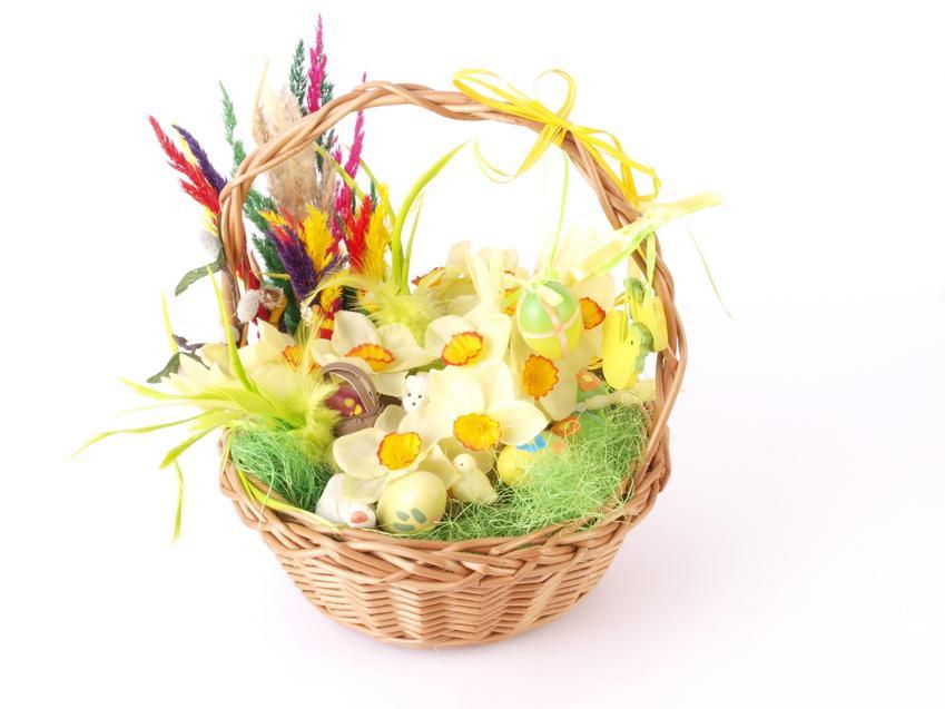 Koszyczek wielkanocny w kwiatach i ozdobach, a także co wkładamy do koszyczka wielkanocnego