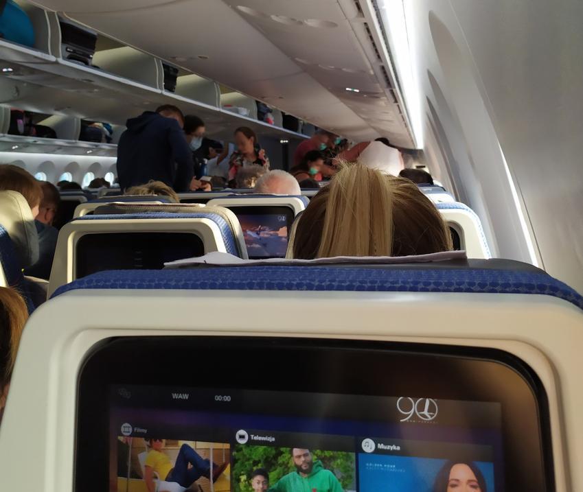 Wnętrze samolotu