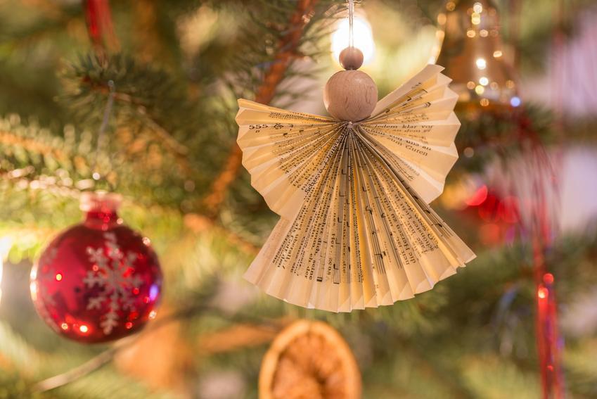 Piękny aniołek z papieru na choince, a także porady, jak zrobić aniołka z innych materiałów
