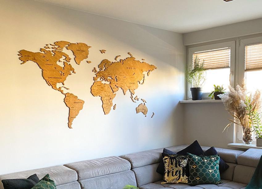 Drewniane mapy 3D na ścianę! Spraw sobie i swoim bliskim niesamowity prezent!