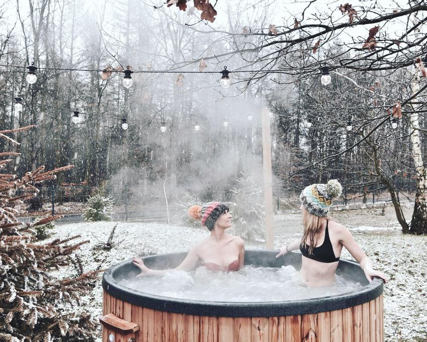 Balia ogrodowa - relaks zimą i latem