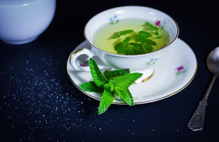 Herbatka ziołowa z mięty w filiżance, a także 4 najlepsze sposoby na wzdęcia krok po kroku - najlepsze domowe metody