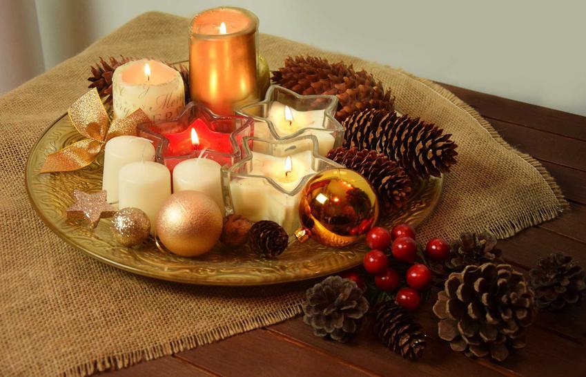 Stroik z szyszek ze świecami, a także stroiki z szyszek na Boże Narodzenie, pomysły, inspiracje, podpowiedzi DIY