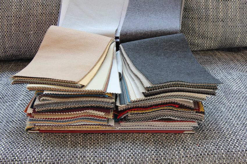 Próbki mateirałów obiciowych i najróżniejszych tkanin do obicia mebli, rodzaje, zastosowanie i kolory