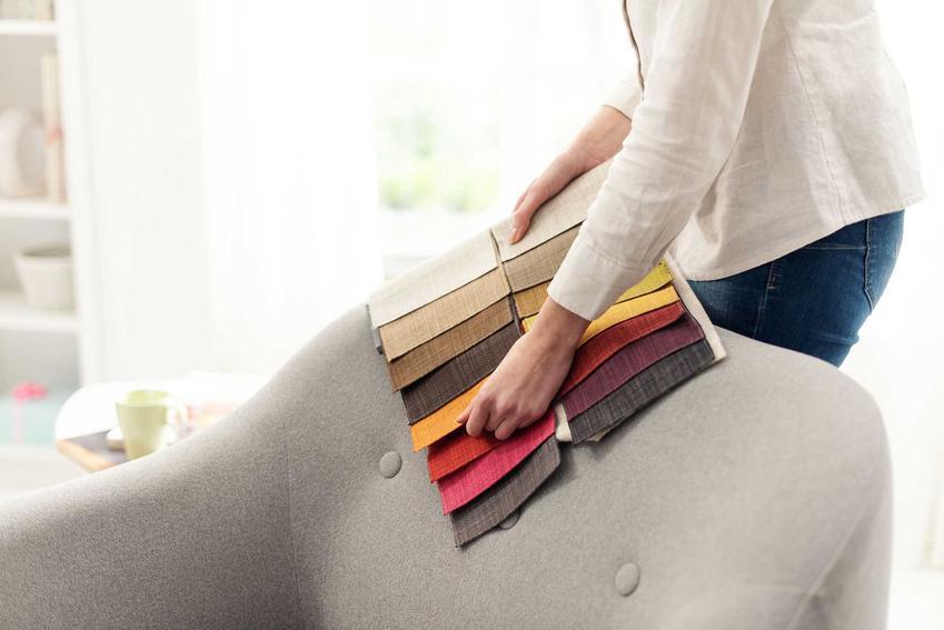 Kolorowe materiały do tapicerowania fotela, a także materiały i tkaniny tapicerskie, rodzaje oraz ceny