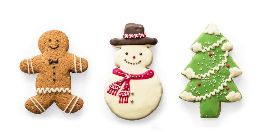Świąteczne ciasteczka, ciastka w kształcie choinki, ciasteczka w kształcie bałwanka, ciasteczka w kształcie ludzika