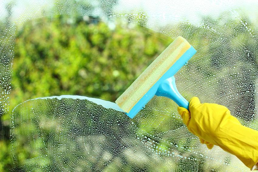 Myjka Vileda do mycia okien podczas użycia. Vileda Windomatic oraz inne polecane modele tej marki oraz ceny produktów