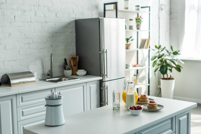 Lodówka Amica, a dokładniej lodówko zamrażarka w pięknie zaaranżowanej kuchni oraz polecane modele wraz z cenami