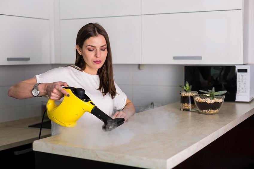 Myjka parowa Karcher, czyli mała maszyna parowa obsługiwana przez młodą kobietę oraz polecane modele