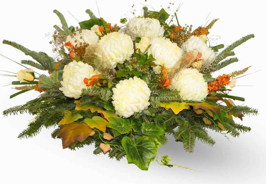Stroiki na cmentarz, a także wiązanki i wieńce na cmentarz, bukiety, w tym nowoczesne stroiki na cmentarz z żywych i sztucznych kwiatów