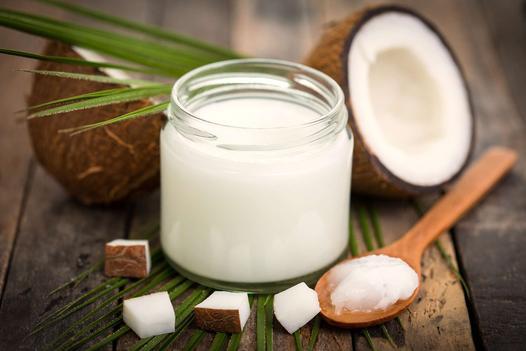 olej kokosowy na trudne plamy